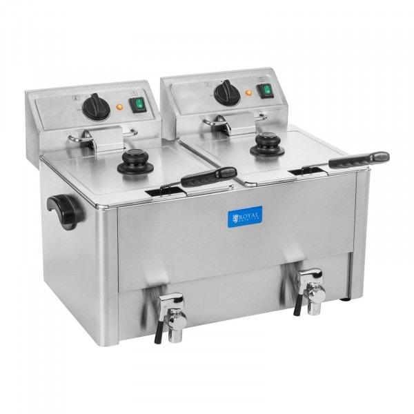 Friteuse électrique - 2 x 13 litres - Thermostat EGO