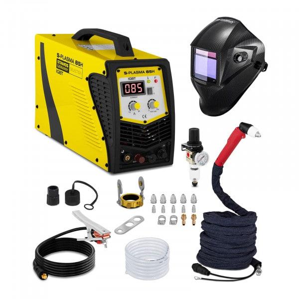 Set d'équipement de soudage Découpeur plasma - 85A - 400V + Masque de soudure – Carbonic – PROFESSIONAL SERIES