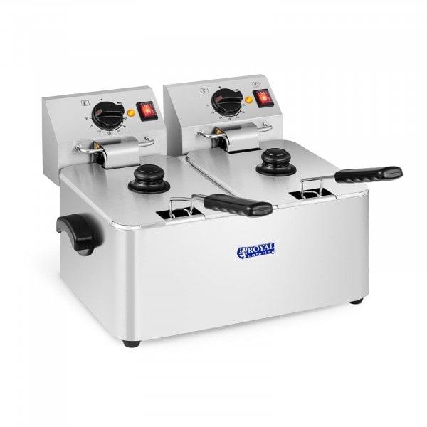 Friteuse électrique - 2 x 8 litres - Thermostat EGO