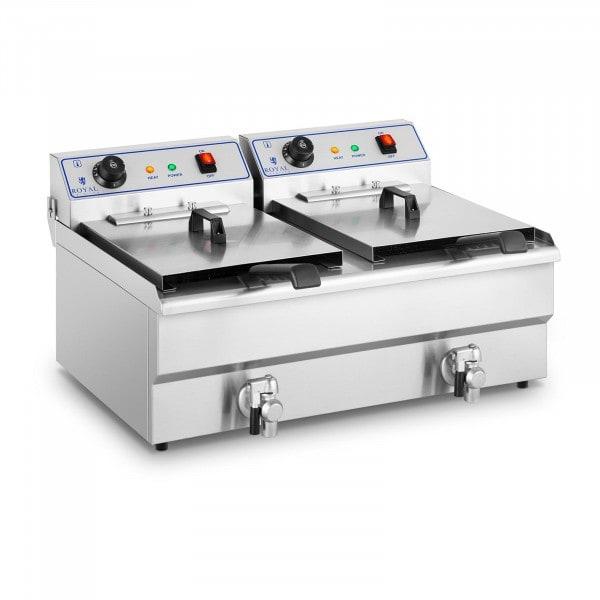 B-WARE Friteuse électrique - 2 x 16 litres - 400 volts